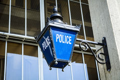 Old fashioned police sign Royalty Free Stock Photo