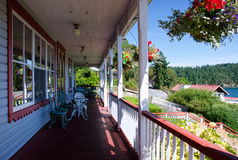 An old-fashioned porch Stock Images