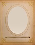 Old-fashioned portrait frame Royalty Free Stock Photography