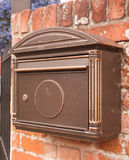 An old fashioned post box outside on the wall cool Royalty Free Stock Image
