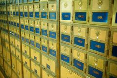 Old Fashioned Post Office Boxes Stock Photos