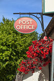 Old fashioned post office sign Stock Image