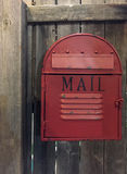 Old fashioned postbox. A red old fashion postbox, TX USA Royalty Free Stock Image