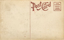 Old-Fashioned Postcard. Blank aged antique post card from early 1900s Stock Image