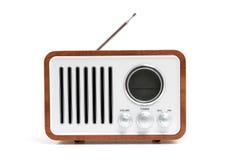 Old fashioned radio. Isolated on white background stock photos