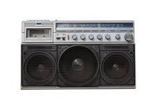 Old fashioned radio. Old radio on white background Stock Image