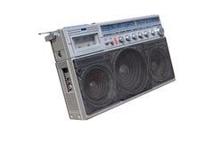 Old fashioned radio. Old radio on white background Royalty Free Stock Images