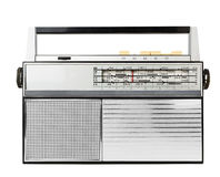 Old fashioned radio. Isolated on a white stock photography