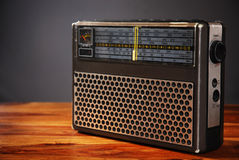 Old-fashioned radio Stock Photo