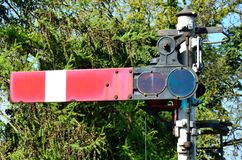 Old fashioned rail signal Stock Images