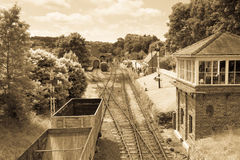 Old fashioned railway station Royalty Free Stock Photography