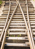 Old fashioned railway tracks Stock Photos