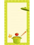 Old fashioned recipe card. Illustration Stock Photography