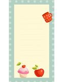 Old fashioned recipe card. Illustration Royalty Free Stock Images