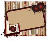 Old-fashioned record player background II. Vintge background frame for Your text with old-fashioned record player Royalty Free Stock Photos