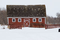 Old fashioned red barn Royalty Free Stock Photos