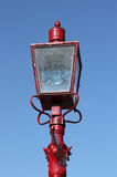 Old-fashioned red street lamp Stock Photo