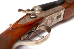 Old-fashioned rifle Stock Photo