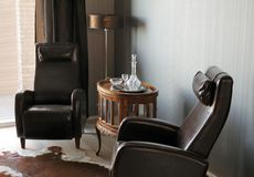 Old fashioned room. A Room with old-fashioned interior design royalty free stock images