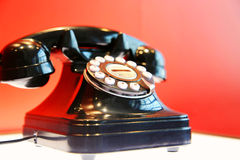 Old-fashioned rotary phone Stock Image