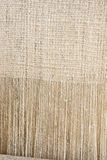 Old-fashioned rustic homespun cloth as background Royalty Free Stock Image