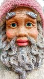 Old Saint Nicholas, Santa Claus, Pottery Statue. An old fashioned Saint Nicholas, Santa Clause, Kris Kringle Statue made out of pottery stock photo