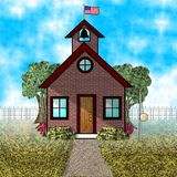 Old fashioned schoolhouse. This illustration that I created depicts an old fashioned schoolhouse Royalty Free Stock Photo