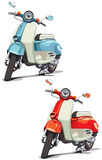 Old-fashioned scooter Stock Image