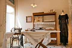 Old Fashioned Sewing and Laundry Room in Casa Mila Stock Photography