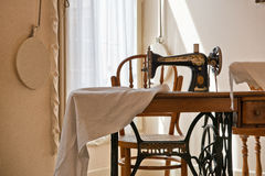 Old Fashioned Sewing Machine in Casa Mila Royalty Free Stock Photography