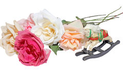 Old fashioned silk roses Stock Image