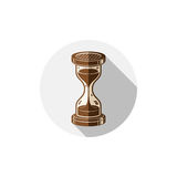 Old-fashioned simple 3d hourglass, time management business icon Stock Photo