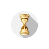 Old-fashioned simple 3d hourglass, time management business icon Stock Images