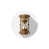 Old-fashioned simple 3d hourglass, time management business icon. Time is running out conceptual symbol Stock Photography