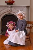 Old-fashioned sisters Royalty Free Stock Image