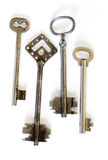 Old fashioned skeleton keys Royalty Free Stock Photo