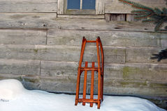 Old-Fashioned Sled Stock Images