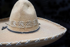 Old Fashioned Sombrero Hat. A close up photo of an authentic mexican sombrero hat royalty free stock images