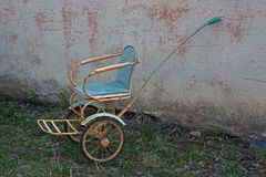 Old-fashioned soviet stroller Royalty Free Stock Image