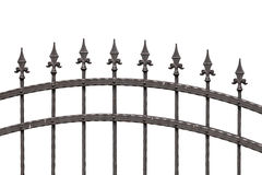 Old fashioned spike fence Royalty Free Stock Photo