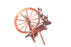 Old fashioned spinning wheel isolated Royalty Free Stock Images