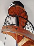 Old fashioned spiral wooden stairs Royalty Free Stock Images