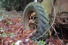 Old Fashioned Spoked Tire Royalty Free Stock Photography