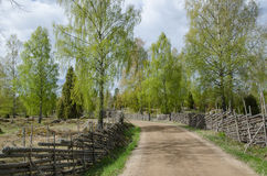 Old fashioned springtime view Royalty Free Stock Photography