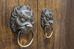 Old-fashioned steel knocker Stock Images