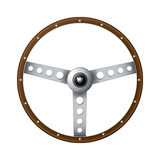 Old fashioned steering wheel Royalty Free Stock Photo