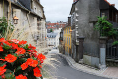 Old-fashioned street of the French town. Stock Image