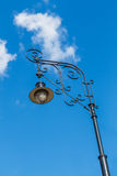 Old-fashioned street lamp. Against the sky. Moscow, Russia Royalty Free Stock Images
