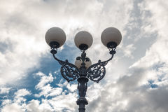 The old-fashioned street lamp,  Florence, Italy Stock Image