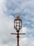 The old-fashioned street lamp, Hampton Court, England Stock Images